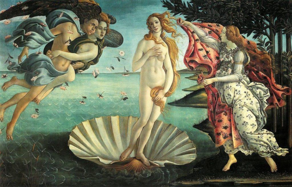 La nascita di Venere ( 1484 ) di Sandro Botticelli