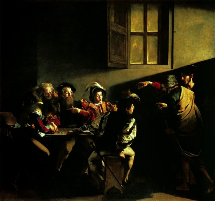 Caravaggio – La vocazione di San Matteo attraverso la luce