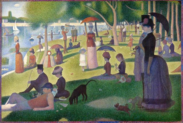 Una domenica alla Grande Jatte (1884-86) Georges Seurat