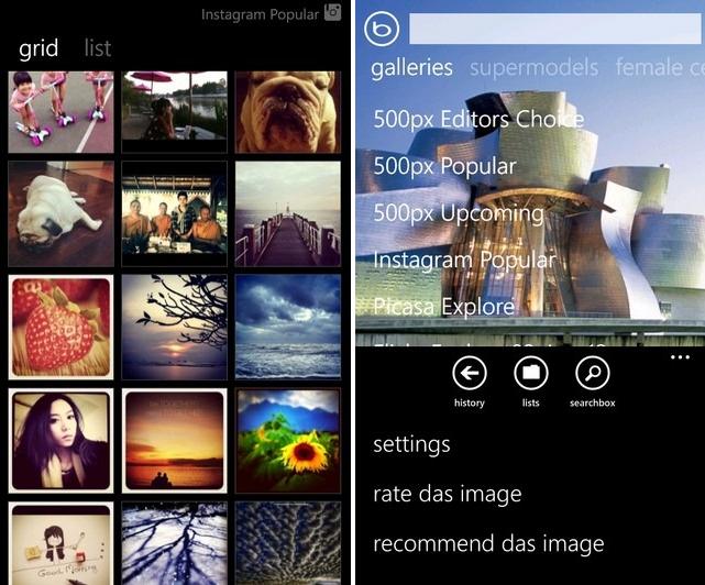 Sfondi desktop da Instagram, Picasa, 500px e Flickr