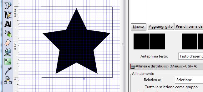 Creare icone font vettoriali con Inkscape