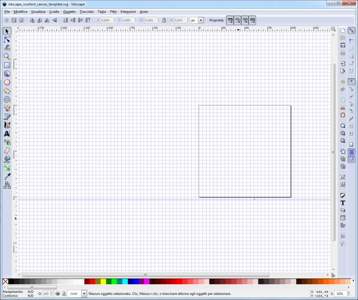 Aprire file preimpostato Inkscape