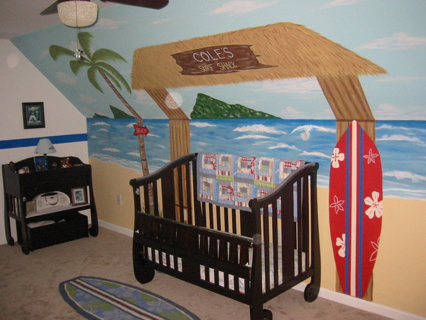 Hawaii, spiaggia e sole – Dipingere cameretta bambini
