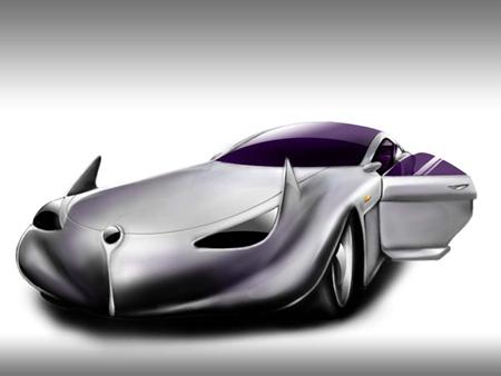 Disegnare un auto per un supereroe Batman Con Pen Tablet