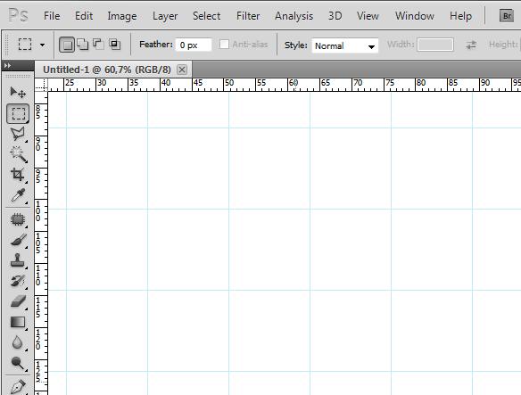 Modificare dimensioni e colore della griglia Photoshop