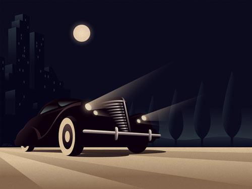 En Voyage vector wallpaper