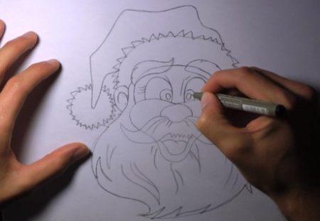 come_disegnare_babbo_natale_9