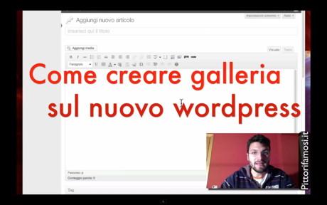 Galleria WordPress – Nuova gestione media