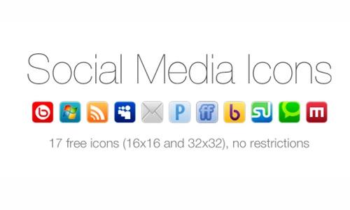 17 free social web icons