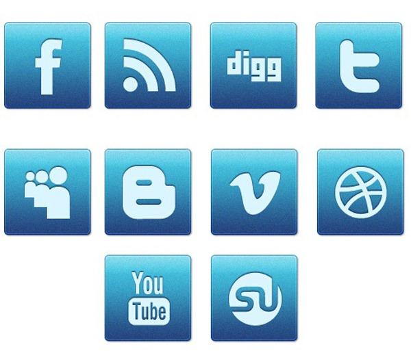 blue magic social media icons
