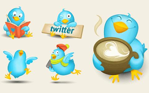 cute tweeter icon set