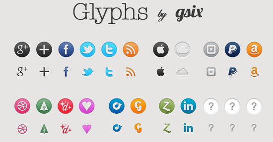 glyphs icons