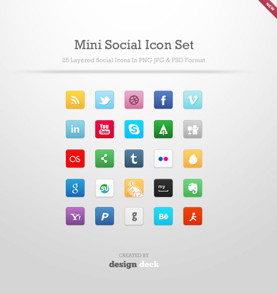 minimal social icon set