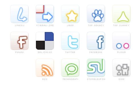 social glow icons