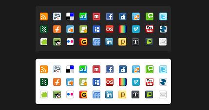 social media mini icon pack
