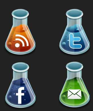 lab style icon set