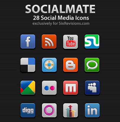 socialmate icons set