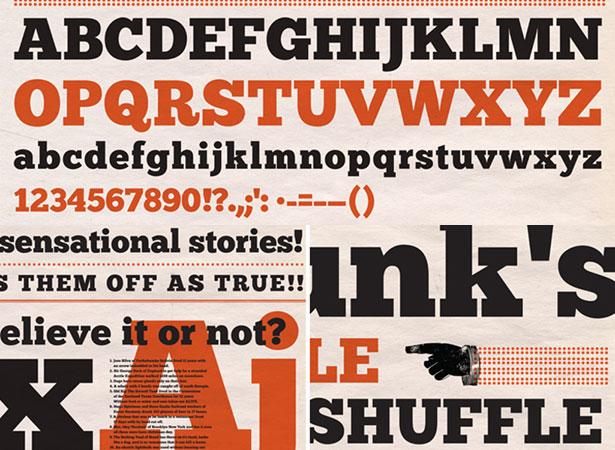 40 Fantastici font per grafica web