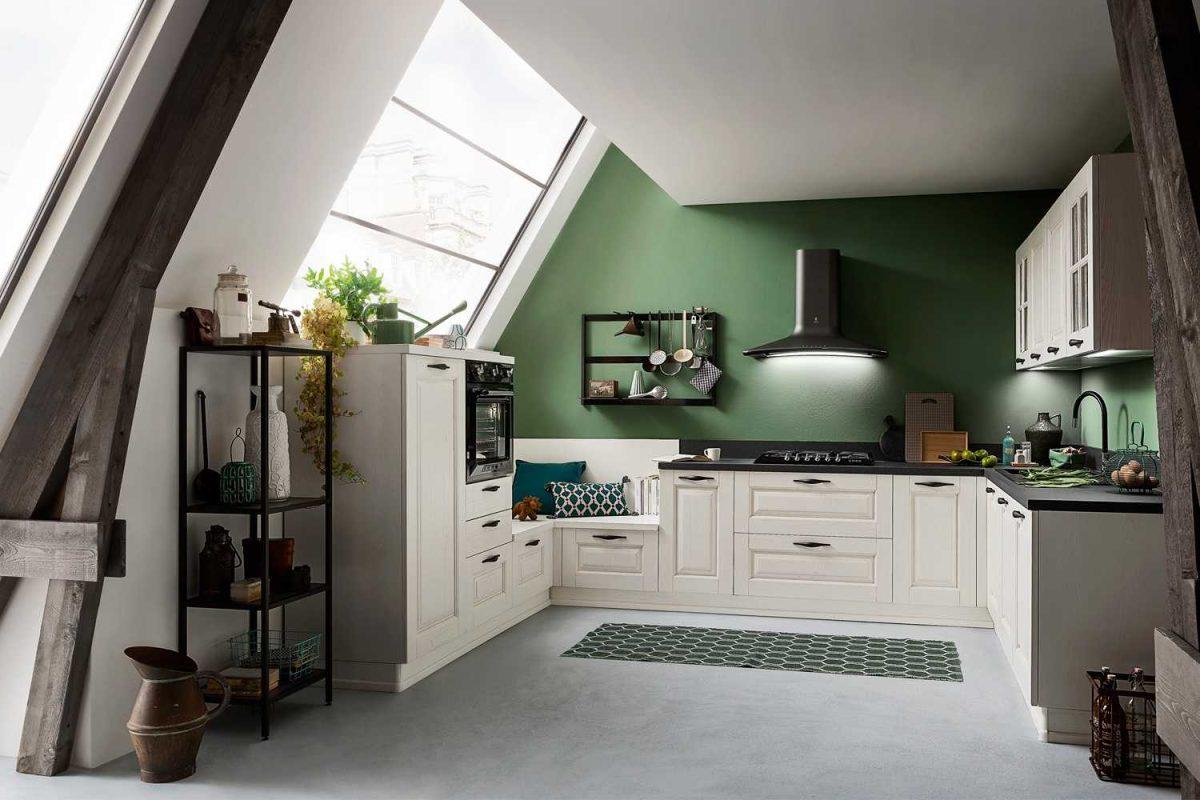 Abbinamenti di colore con cucina classica bianca