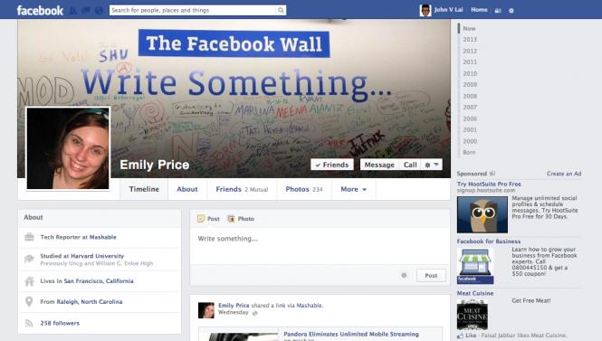 Nuova Timeline e NewsFeed di Facebook