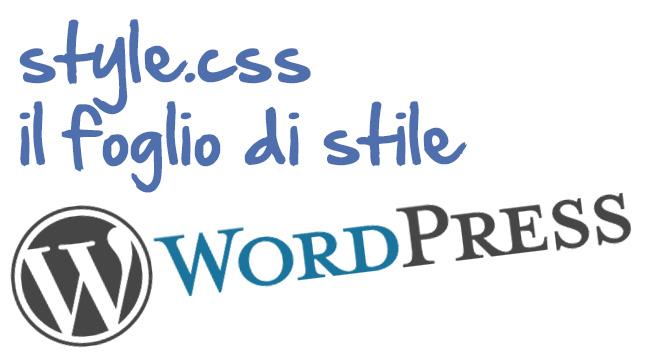 Foglio di stile Css – Creare tema WordPress