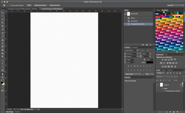 Creare foglio puntinato