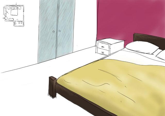 Come dipingere la parete dietro al letto