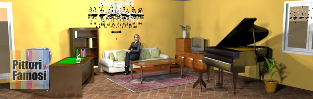 salotto-nord-mobili-noce-pavimento-cotto-divano-panna-arancio