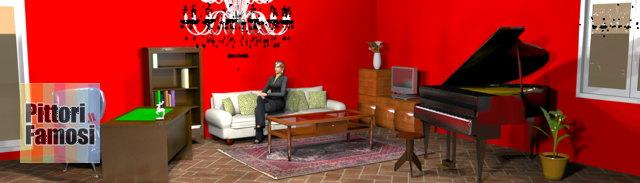 salotto-nord-mobili-noce-pavimento-cotto-divano-panna-rosso