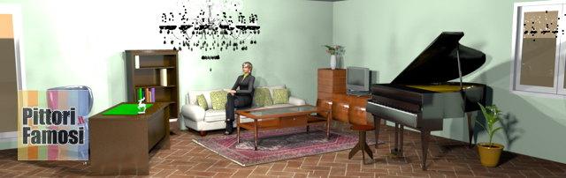 salotto-nord-mobili-noce-pavimento-cotto-divano-panna-verde-chiaro