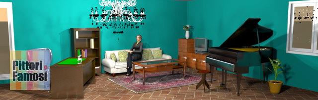 salotto-nord-mobili-noce-pavimento-cotto-divano-panna-verde