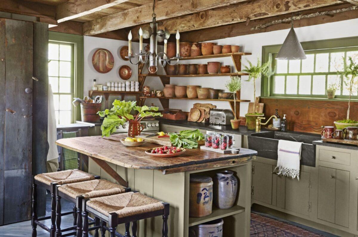 Abbinare colori pareti a una cucina rustica arte povera