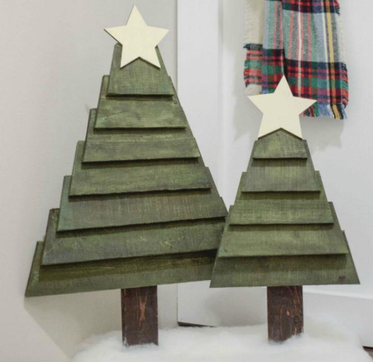 Creare un albero di Natale con il pallet 3