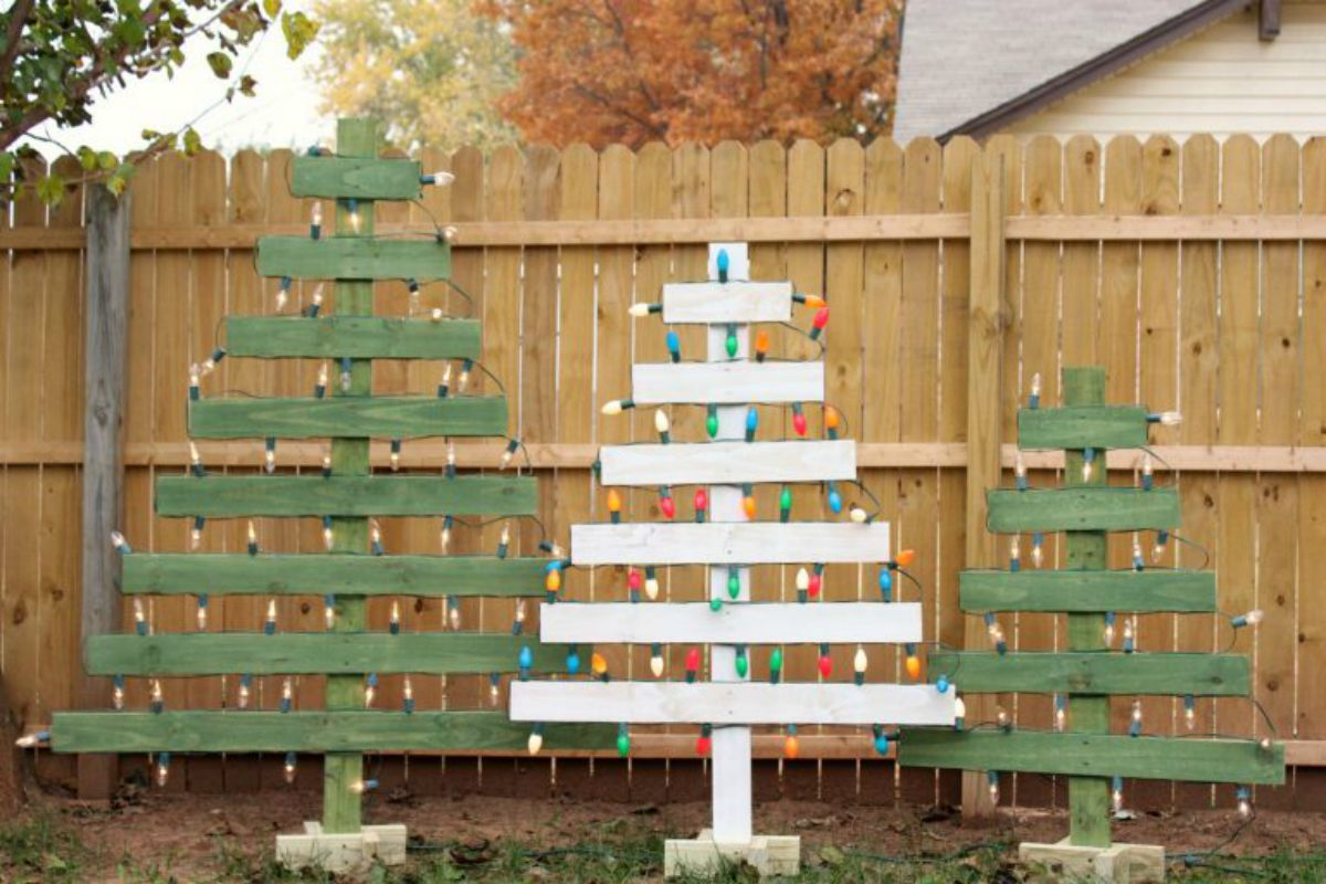 Creare un albero di Natale con il pallet 4