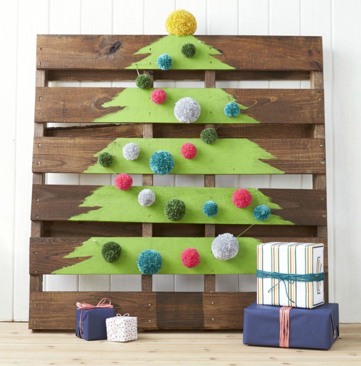 Creare un albero di Natale con il pallet 7