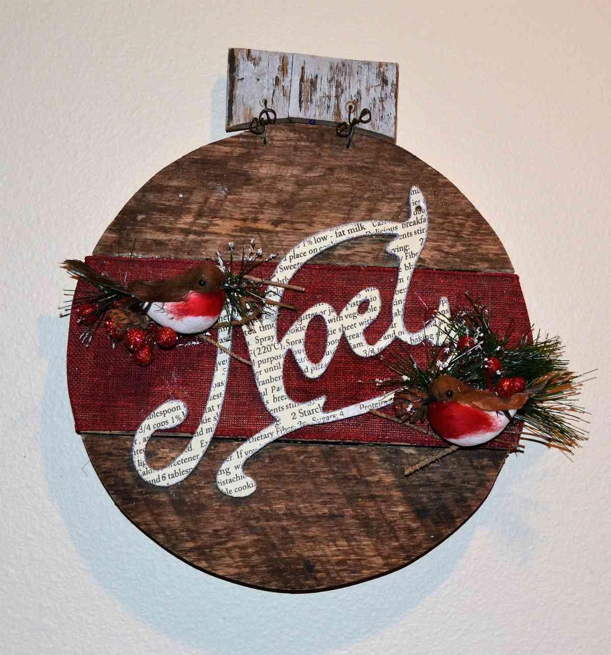 Riciclare il pallet per decorazioni natalizie 13