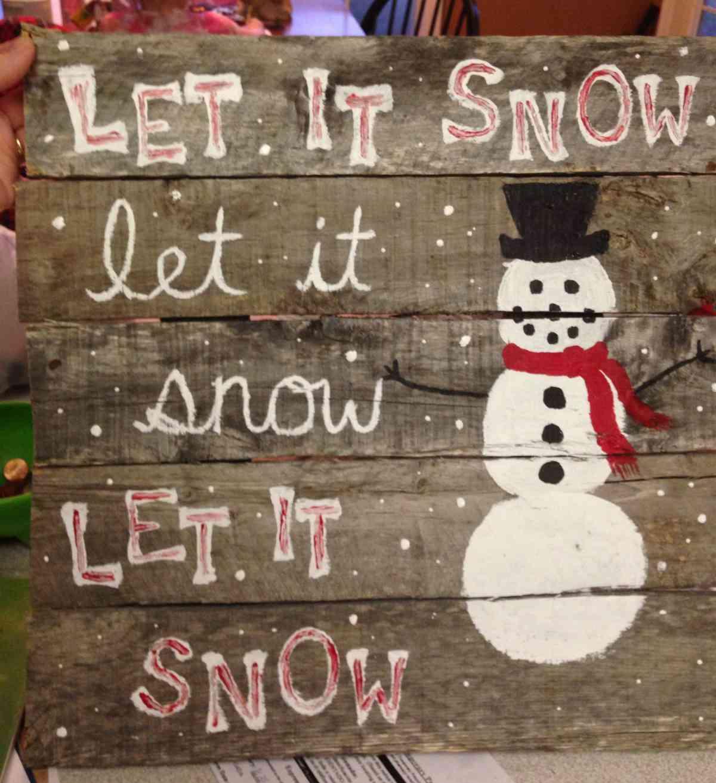 Riciclare il pallet per decorazioni natalizie 3
