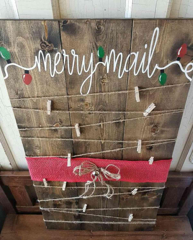 Riciclare il pallet per decorazioni natalizie 5