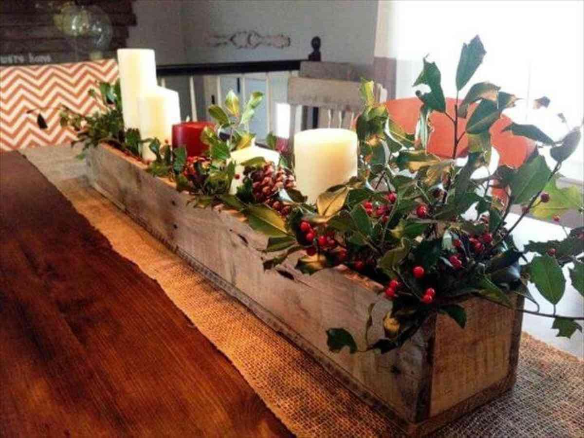 Riciclare il pallet per decorazioni natalizie 9