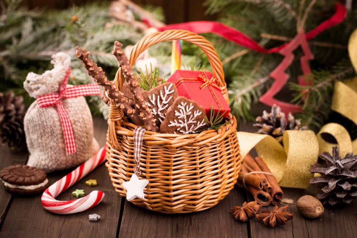 Cesto natalizio: 10 idee fai da te