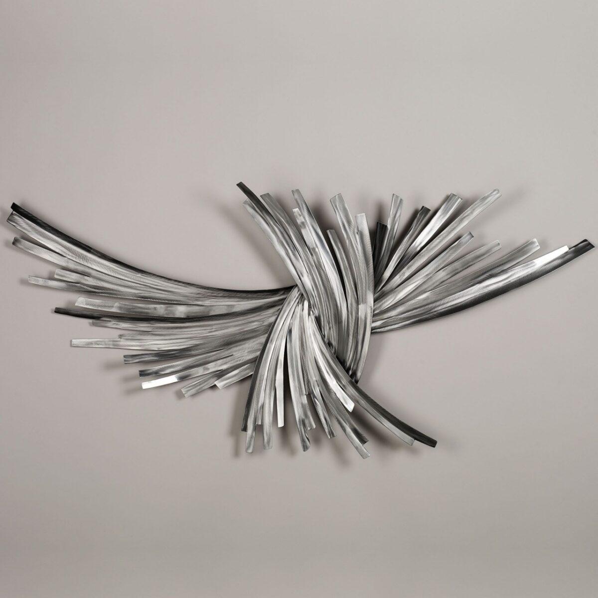 outdoor metal wall art decor sculptures – Infinity Silver Metal Wall Sculpture 壁饰