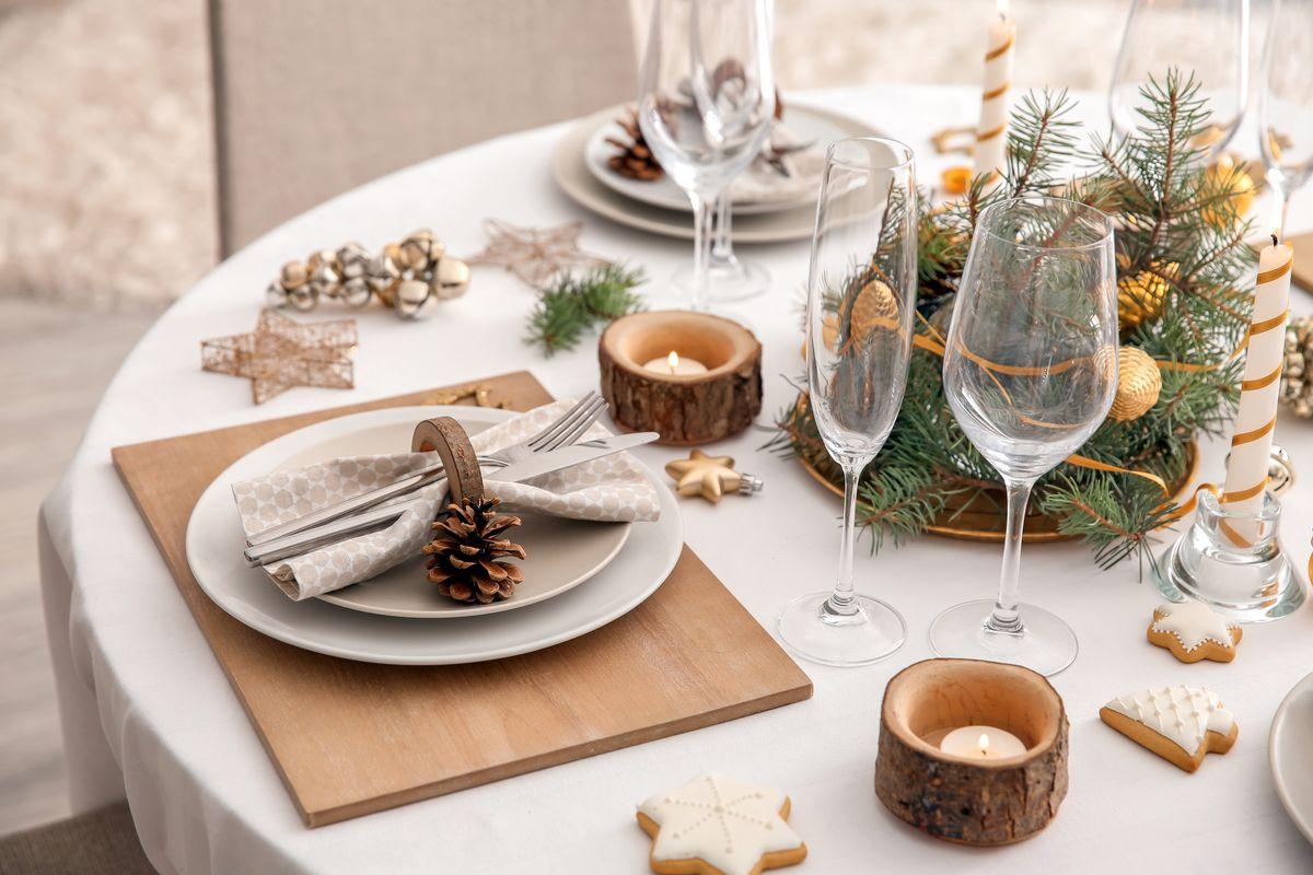 Decorazioni per la tavola natalizia 1