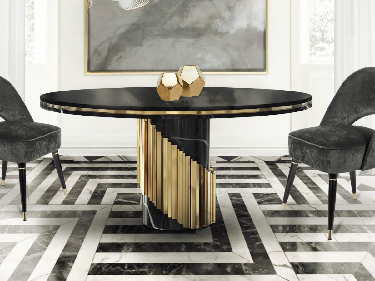 tavolo-moderno marmo e oro