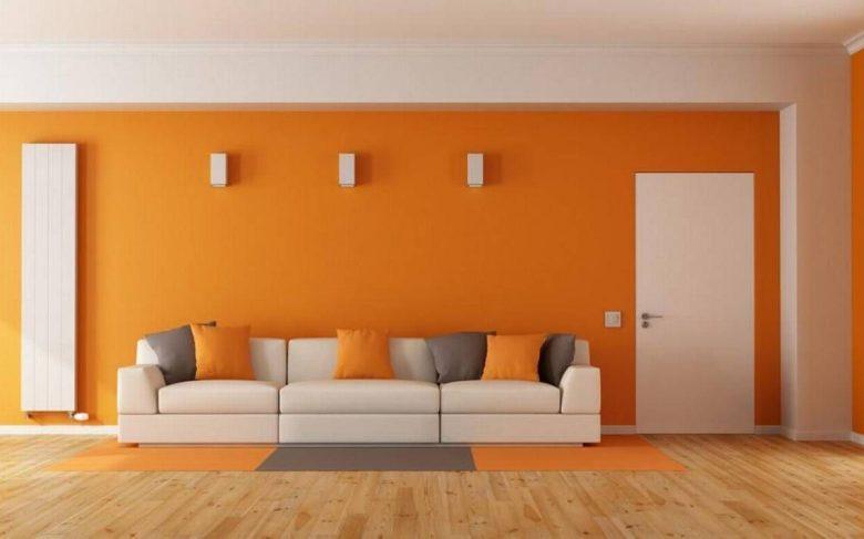 arancione dipingere una parete