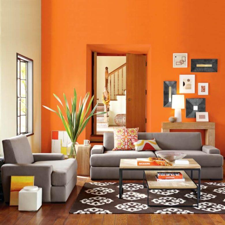 soggiorno arancione