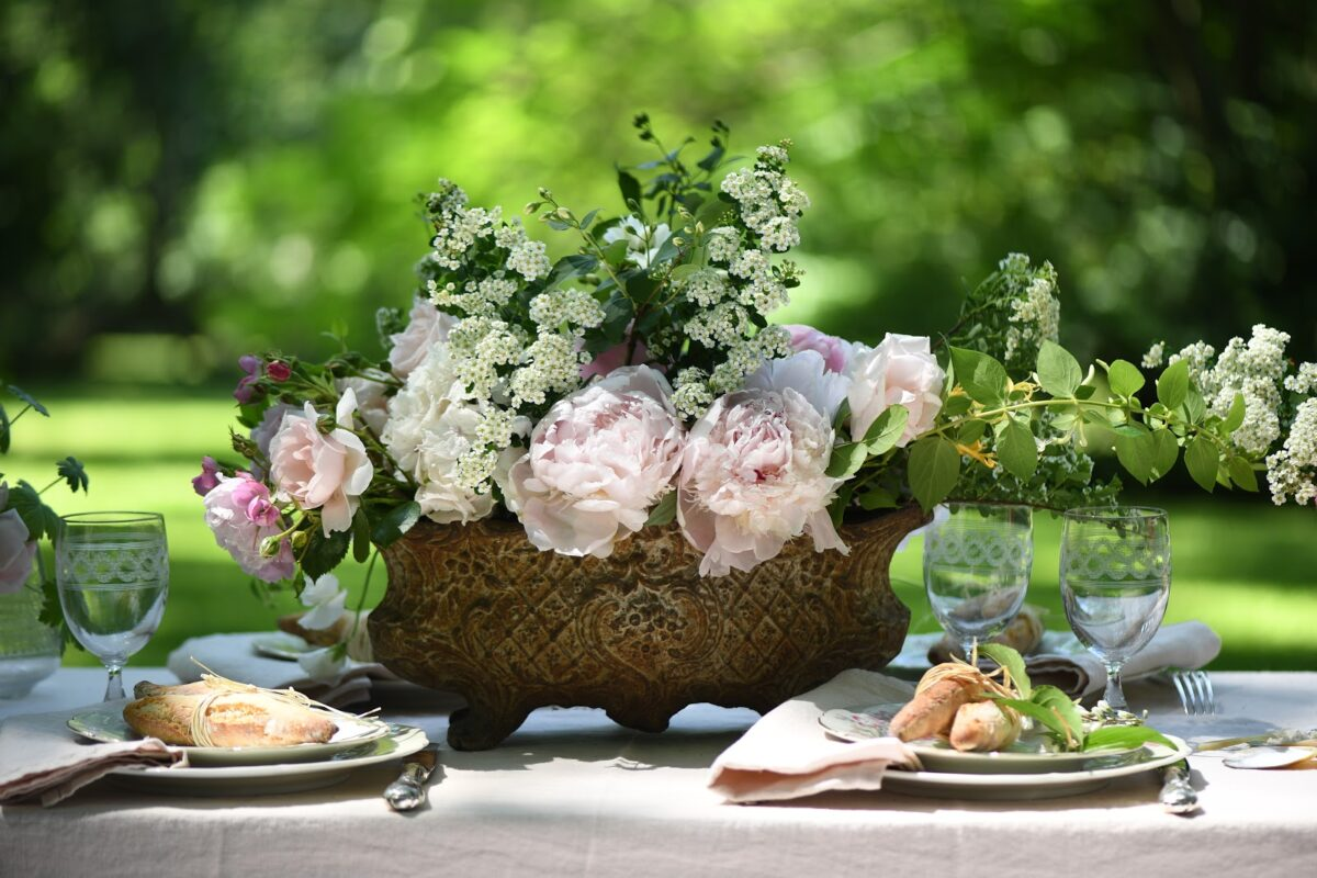 tavola country fiori