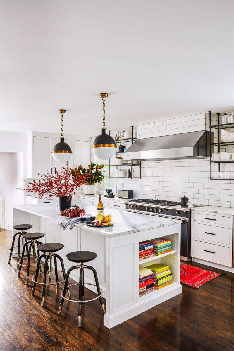 cucina bianca industriale