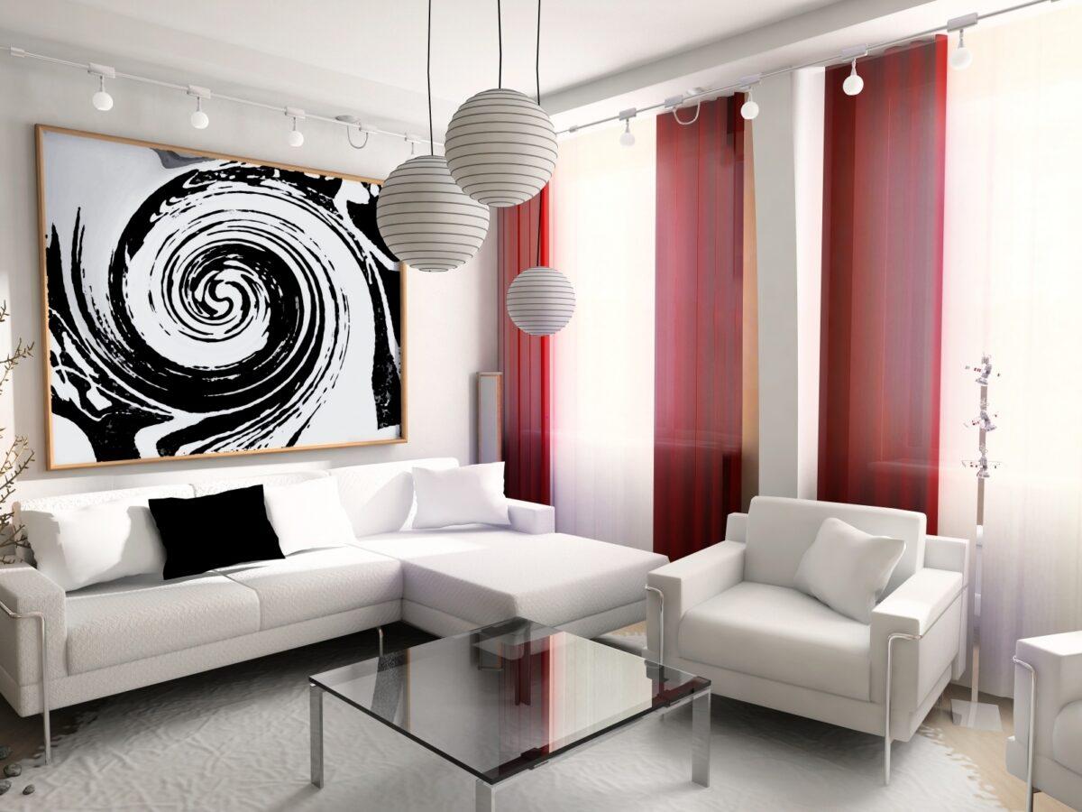 10 idee e foto di bianco per il soggiorno