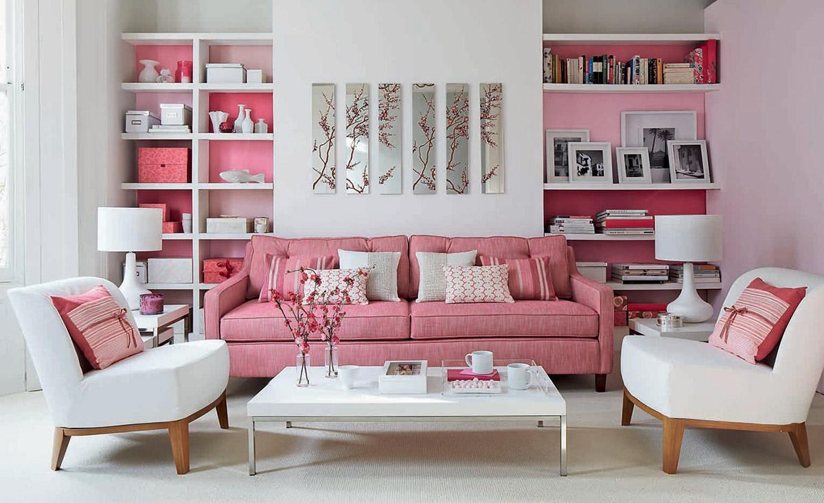 10 idee e foto di rosa in soggiorno