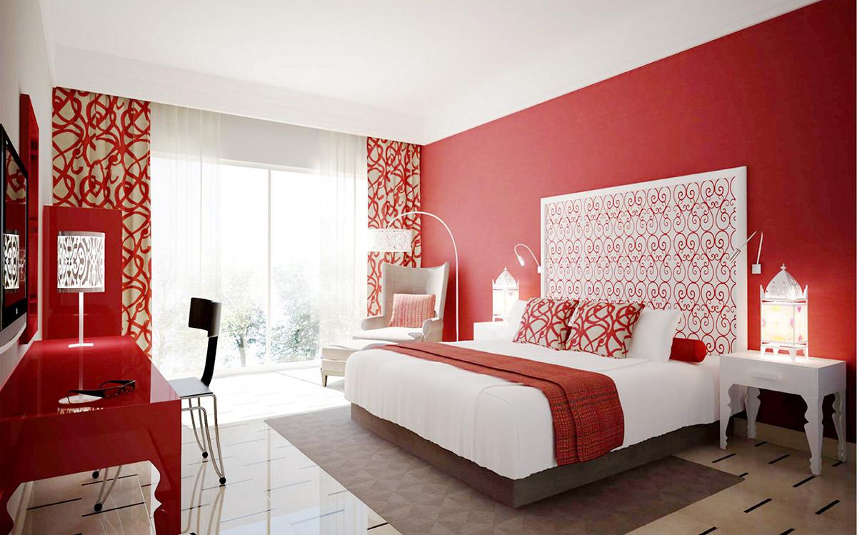 10 idee e foto di rosso per la camera da letto